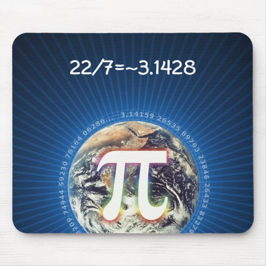 22/7 = pi | Geek Mousepad