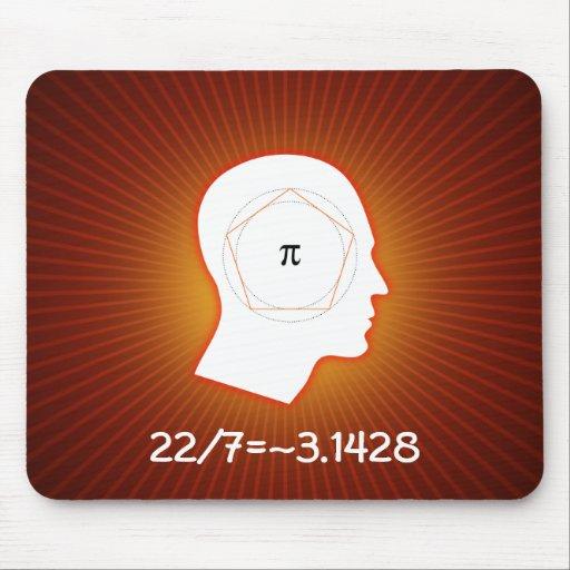 22/7 = pi - red mousepad