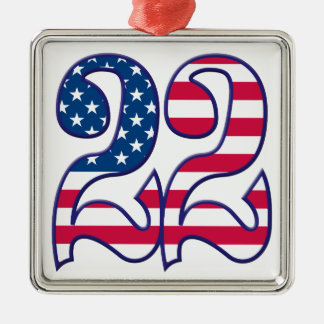 22 Age USA Metal Ornament