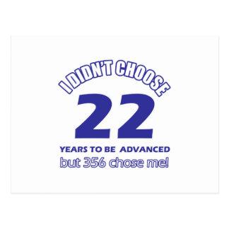 22 años de adelanto postal