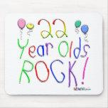 ¡22 años de la roca! alfombrillas de ratones