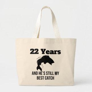 22 años de mejor captura bolsa tela grande
