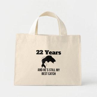 22 años de mejor captura bolsa tela pequeña