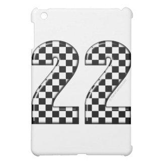 22 auto racing number iPad mini cases