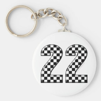 22 auto racing number keychain