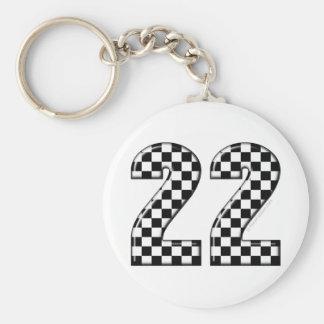 22 auto racing number keychain