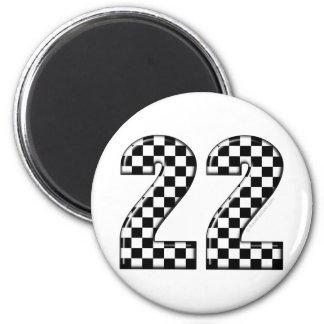 22 auto racing number fridge magnet