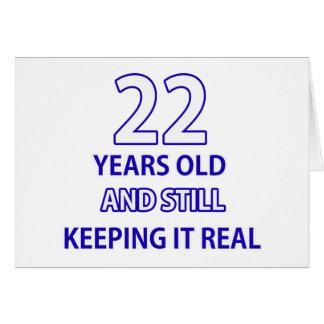 22  birthday design card