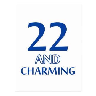 22  birthday design postcard