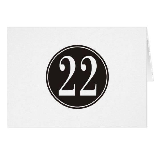 #22 Black Circle (front) Card
