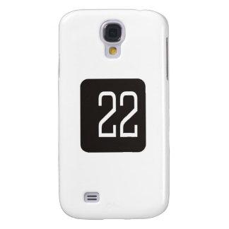 #22 Black Square Samsung Galaxy S4 Case