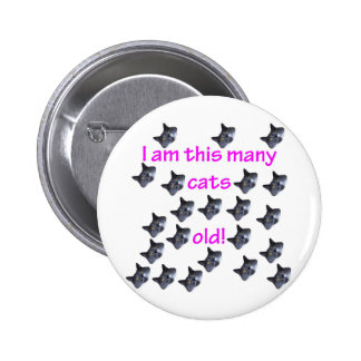 22 Cat Heads Old Pinback Button