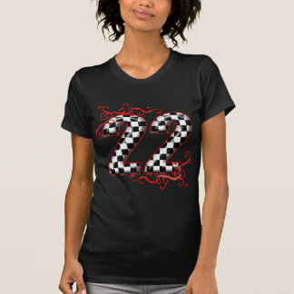 22 checkers flag number T-Shirt