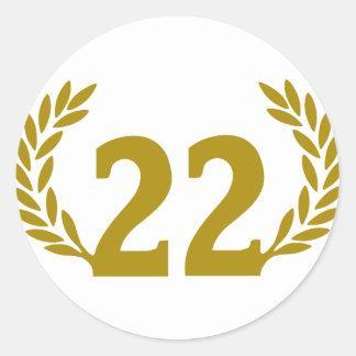 22-corona-radici.png classic round sticker