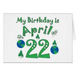 22 de abril cumpleaños del Día de la Tierra Felicitación