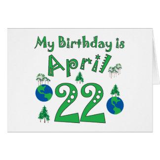 22 de abril cumpleaños del Día de la Tierra Tarjeta De Felicitación