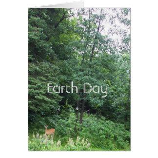 22 de abril Día-Ciervos de la tierra Tarjeta De Felicitación