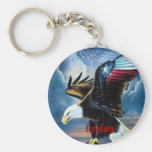 22 eagle, freedom basic round button keychain