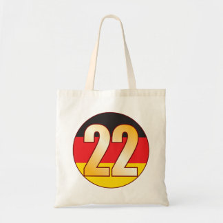 22 GERMANY Gold Tote Bag