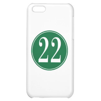 #22 Green Circle iPhone 5C Cases