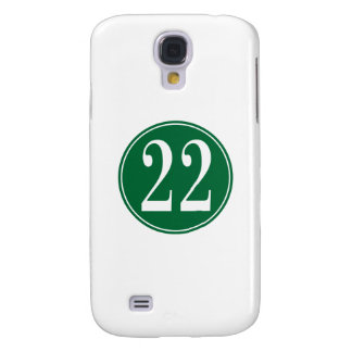 #22 Green Circle Samsung S4 Case