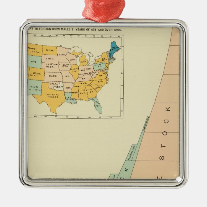 22 Growth elements of population 17901890 Metal Ornament