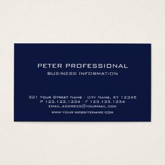 22 Modern Professional Business Card navy blue