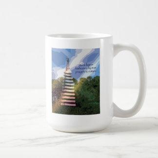 22 Mug - Original Art & Haiku - stone layers