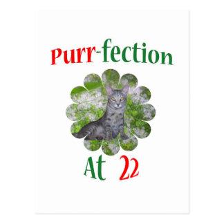 22 Purr-fection Postcard
