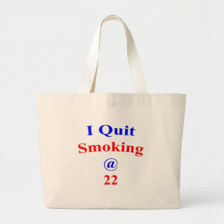 22 que abandoné el fumar bolsa tela grande