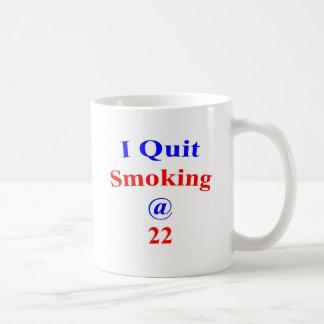22 que abandoné el fumar taza
