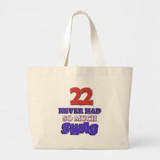 22 tanto diseños nunca tenidos del Swag Bolsa Tela Grande