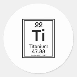 22 Titanium Classic Round Sticker