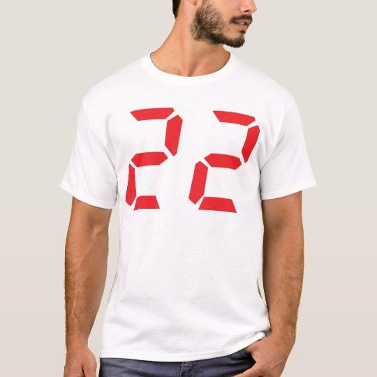 22 twenty-two red alarm clock digital number T-Shirt