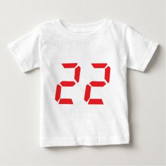 22 twenty-two red alarm clock digital number t shirts