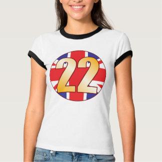 22 UK Gold T-Shirt
