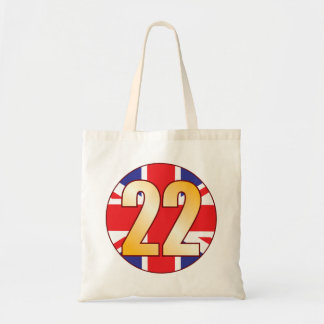 22 UK Gold Tote Bag