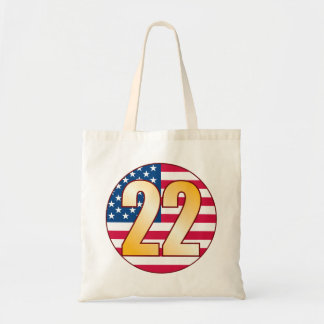 22 USA Gold Tote Bag