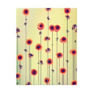 22 x 28 Wildflowers modernos surrealistas Impresion En Lona