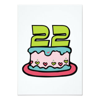 22 Year Old Birthday Cake Card