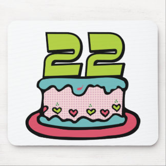 22 Year Old Birthday Cake Mouse Pad