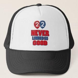 22 year old birthday designs trucker hat