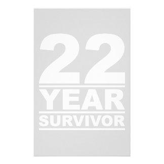 22 year survivor stationery