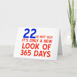 22 Years Old Birthday Designs Card