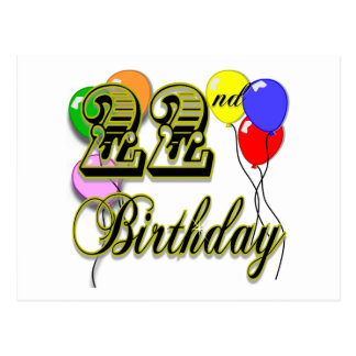 22da mercancía feliz del cumpleaños postal
