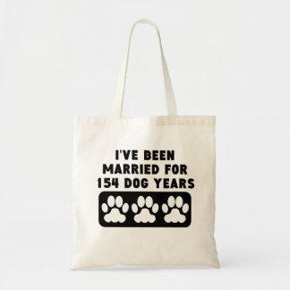 22do Años del perro del aniversario Bolsa Tela Barata