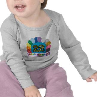 22do Camiseta del arco del globo del cumpleaños