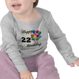 22do cumpleaños feliz con los globos camisetas