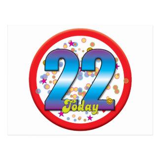 22do Cumpleaños hoy v2 Postal