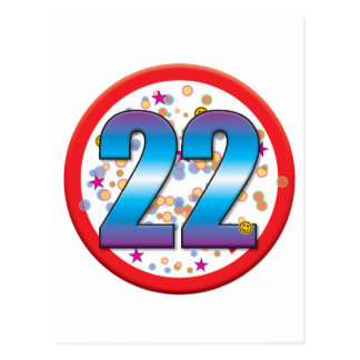 22do Cumpleaños v2 Postal